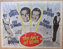 Art of Love, Original UK Quad Poster, Dick Van Dyke, James Garner, Sommer, 65